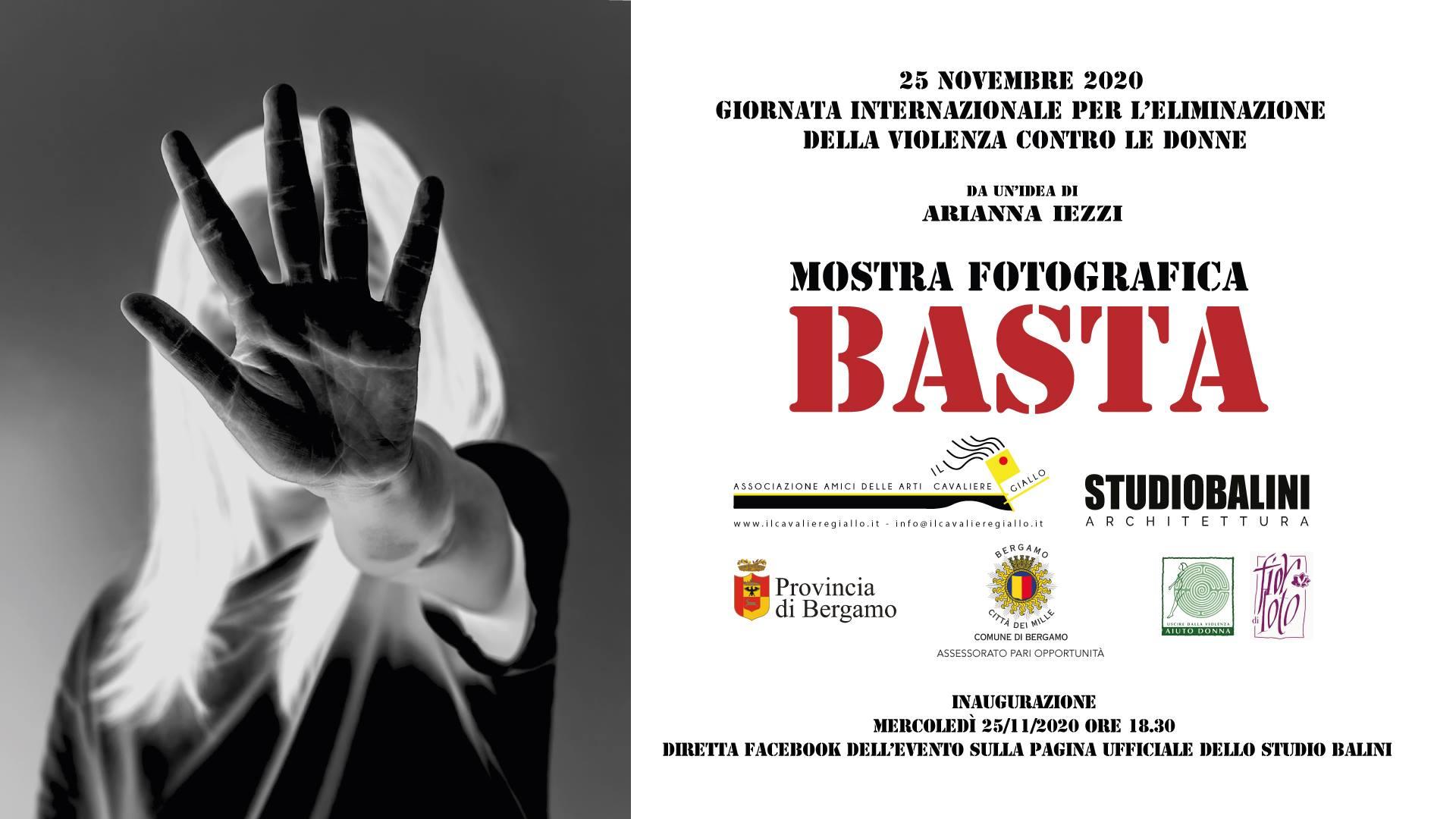 Inaugurazione della mostra fotografica BASTA